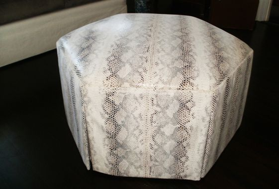 Brown-ottoman-snake-pattern-custom-hand-made-upholstery