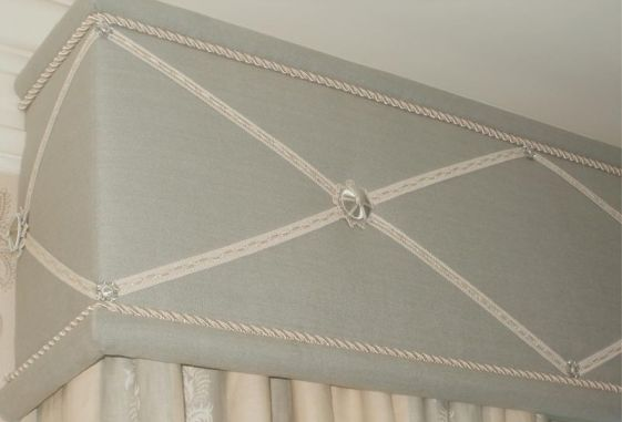 Custom-upholstered-valance-band-trimmed-rosettes