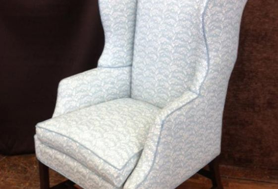 Custom-wing-chair-upholstery-cord-trim-down-cushion